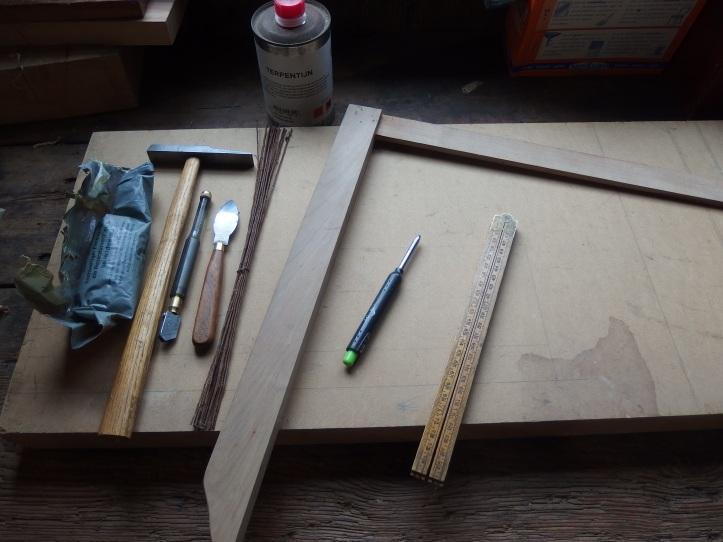 Glass cutting.